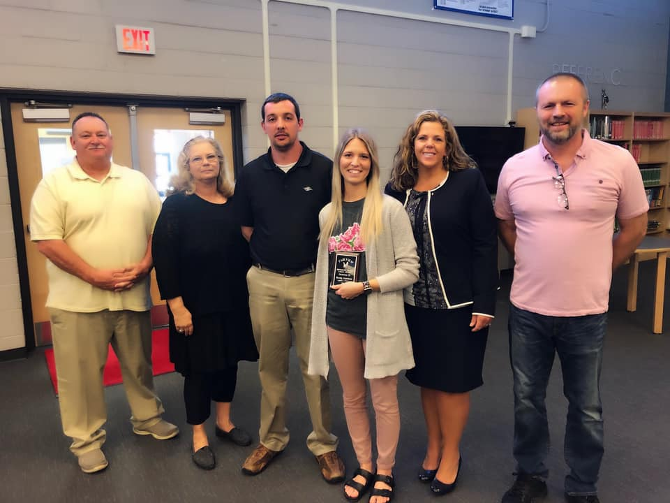 Mrs Gehringer honored as the April Making a Difference Award Winner