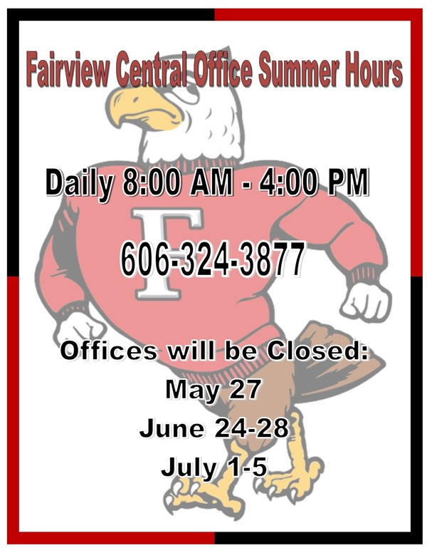 Summer Central Office Hours