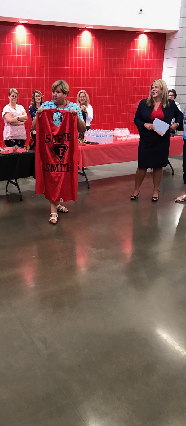 Superintendent Risden-Smith presented with a cape