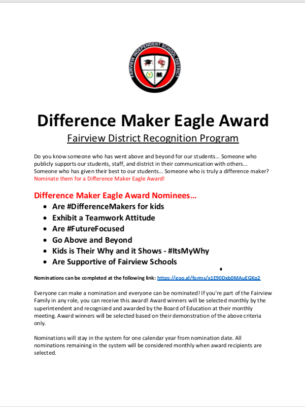Difference Maker Eagle Award