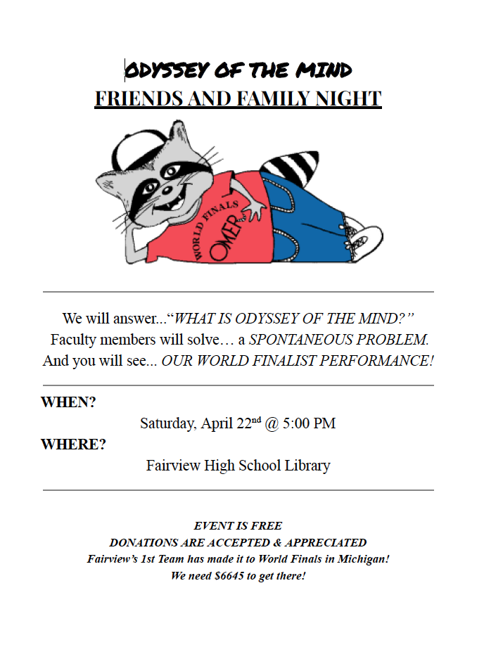 Odyssey of the Mind Night